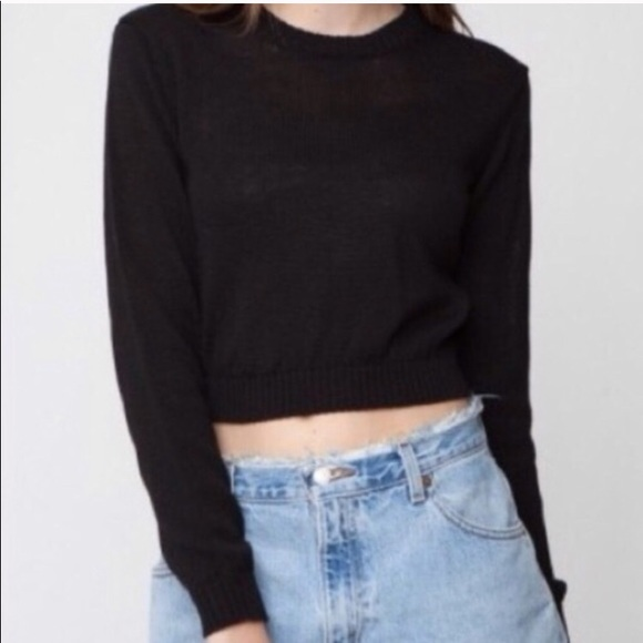 b918233c379 RARE Brandy Melville Black Cropped Sweater